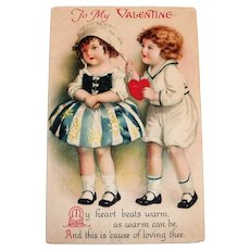 To My Valentine Postcard - Clapsaddle