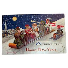 Wishing You A Happy New Year Postcard - Signed