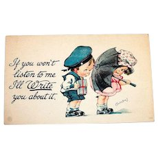 If You Won't Listen To Me, I'll Write You About It Postcard - Twelvetrees