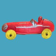 Auburn Toy Red & Yellow Race Car