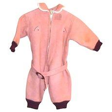 1940's-50's Toddler's Wool Top Snowsuit