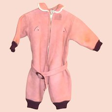 1940's-50's Toddler's Wool Top Snowsuit