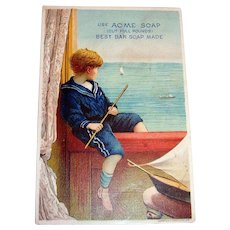 Lautz Bros. Acme Soap Trade Card (Boy Watching Ship)