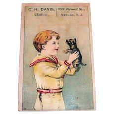 C.H. Davis, Clothier Trade Card