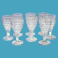 Fostoria Clear Stemmed Wine Glass