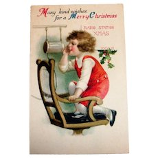 Many Kind Wishes For A Merry Christmas Postcard (Radio Station XMAS)
