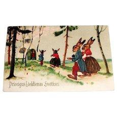 Swedish Easter Fantasy Postcard (Priecigus Lieldienas Svetkus)