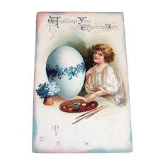 Wishing You Easter Joy Postcard - Clapsaddle