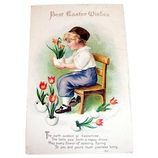 Best Easter Wishes Postcard - Signed