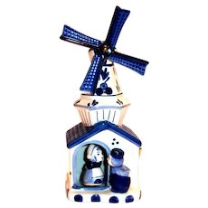 Dutch Blue & White Porcelain Music Box