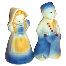 Shawnee Porcelain Dutch Boy & Girl Salt & Pepper Shakers
