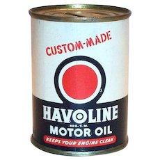 Havoline Motor Oil Tin Oil Can Bank