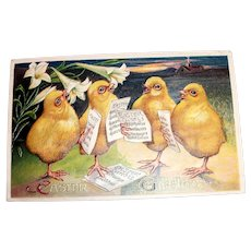 Winsch: Easter Greetings Postcard (Chicks In Choir Practice)