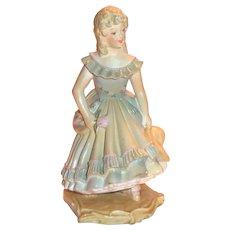 Vintage Wednesday's Child Full of Woe Chalkware Figurine