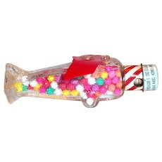 Stough's Musical Airplane Glass Candy Holder