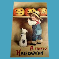 A Happy Halloween Postcard - Clapsaddle