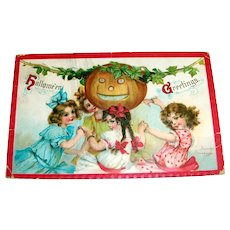 Hallowe'en Greetings Postcard - Frances Brundage