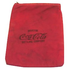 Old Red Canvas Coca Cola Money Bag