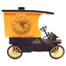 1996 Plastic Coca Cola Vintage Truck Clock