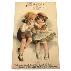 To The One I Love Postcard - Glitter Children