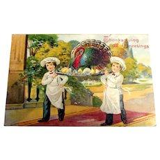 Thanksgiving Greetings Postcard - 1907