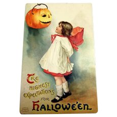 The Highest Expectations For Hallowe'en Postcard - Clapsaddle
