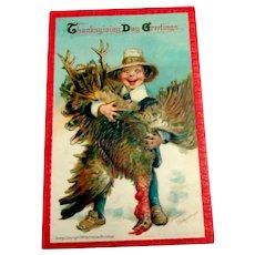 Thanksgiving Day Greetings Postcard - Frances Brundage