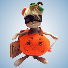 Annalee 1997 Halloween Pumpkin Mouse Doll