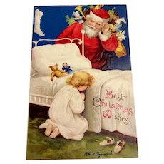 Best Christmas Wishes Postcard - Clapsaddle
