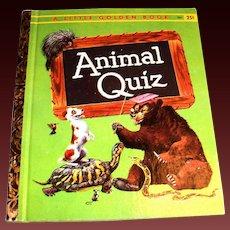Little Golden Book: Animal Quiz, 1960, A Edition