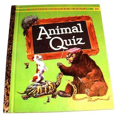 Little Golden Book: Animal Quiz, 1960, A Edition