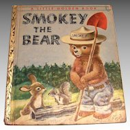 Vintage Little Golden: Smokey The Bear, 1955, C Edition