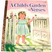Little Golden Books: A Child's Garden Of Verses, 1969, F Edition