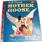 Little Golden Children's Book: Disney's:  Mother Goose - 1952, A Edition