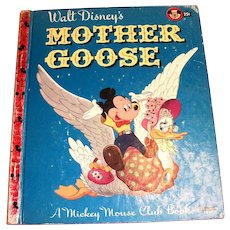Little Golden Children's Book: Disney's:  Mother Goose - 1952, A Edition