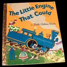 Little Golden Books: The Little Engine That Could Children's Book, 1954 - D Edition
