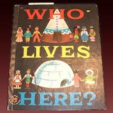 Wonder Books: Who Lives Here? Children's Book-1958