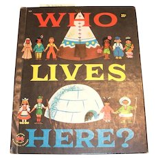 Wonder Books: Who Lives Here? Children's Book-1958