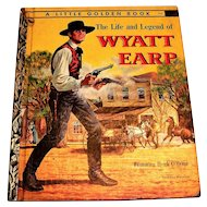 Little Golden: The Life & Legend Of Wyatt Earp Children's Book - 1958