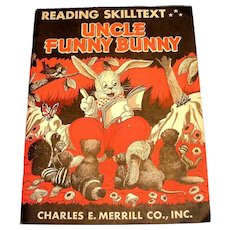 Uncle Funny Bunny 1946 Reading Skilltext Unused Book