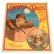 Santa Claus And His Works 1970's Reprint Paperback Book