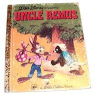 Little Golden Book: Uncle Remus - 1976 Reprint