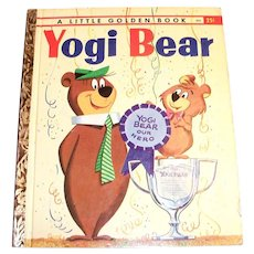 Little Golden Book: Yogi Bear Children's Book - 1960, A Edition