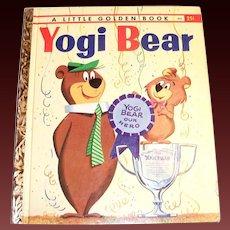 Little Golden Book: Yogi Bear Children's Book - 1960, A Edition