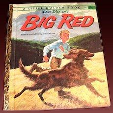 "Little Golden: Disney's ""Big Red"" Children's Book, 1962, A Edition"