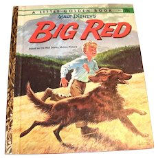 "Little Golden: Disney's ""Big Red"" Children's Book, 1962, A Edition"