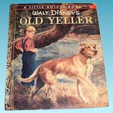 Little Golden: Disney's Old Yeller Book: Children's Book: 1957, B Edition