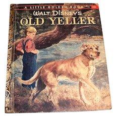 Little Golden: Disney's Old Yeller Book: Children's Book: 1957, B Edition