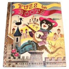 Little Golden Book: Puss In Boots - 1953, A Edition