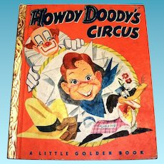 Little Golden Books: Howdy Doody's Circus Children's Book - 1950